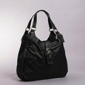 Authentic leather coach purse shoulder tote